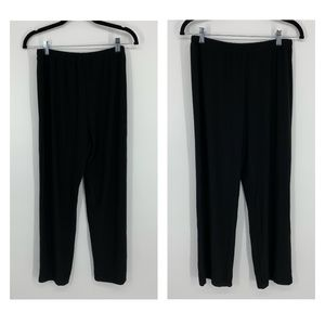NY Collection Petite Straight Leg Pants Black